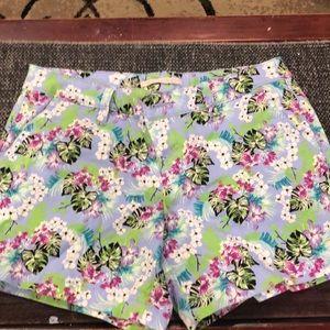 Hawaiian print shorts